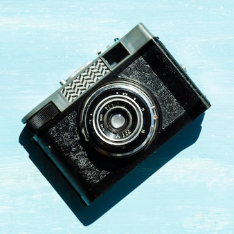 High angle view professional camera