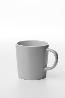 High angle white empty mug