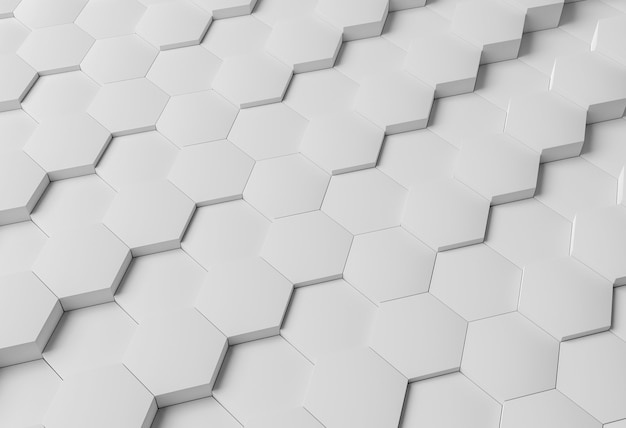 High angle white modern geometrical background