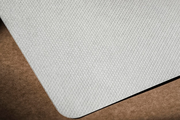 Белый текстурированный картон под высоким углом