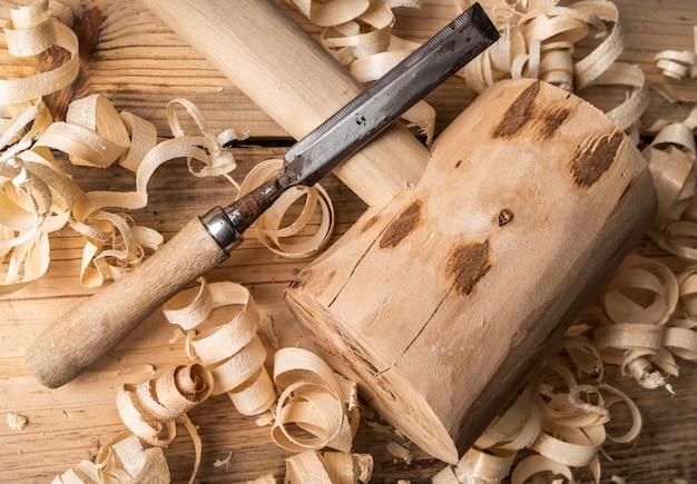 높은 각도 목재 도구 장비