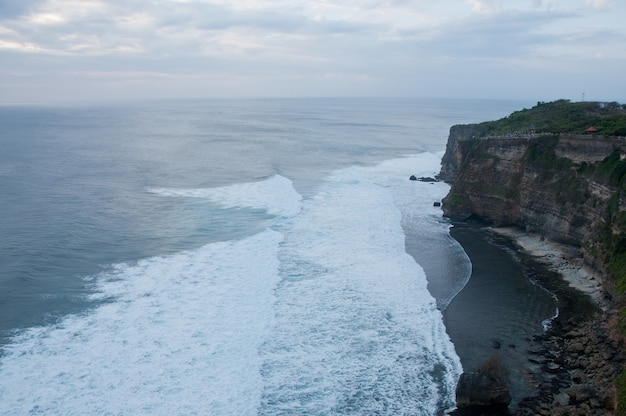 High big clift with stunning beach in bali