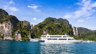 ピピ島タイの賃貸観光客のための高級高級船