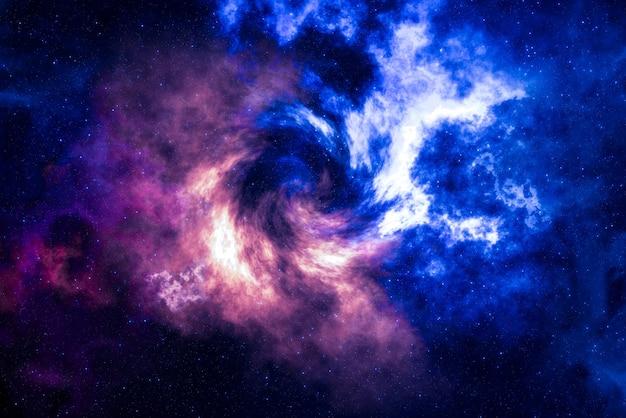 Звездное поле высокой четкости, красочное ночное небо. туманности и галактики в космосе. предпосылка концепции астрономии.