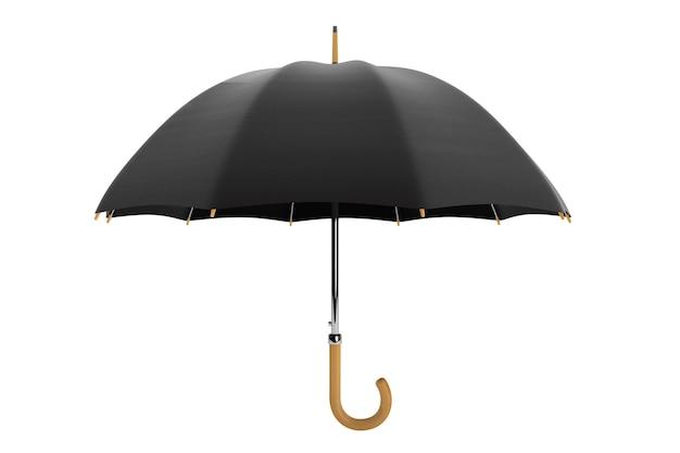 白い背景の上の高詳細傘