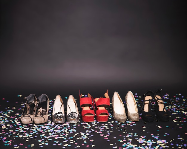 High heels after party