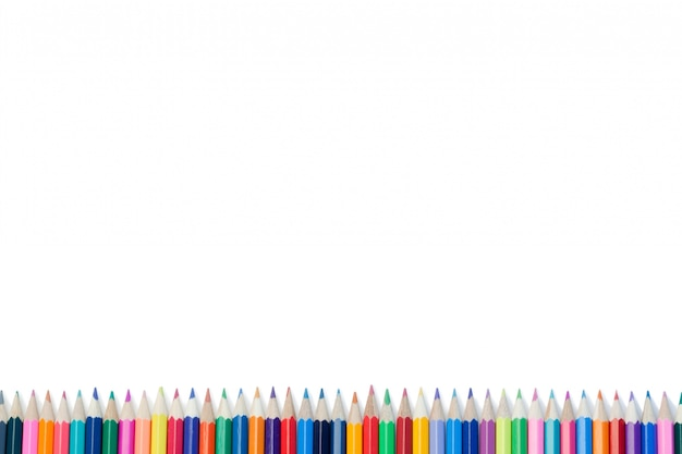 色鉛筆の高い部分