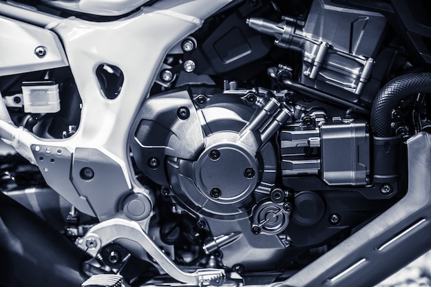 High performance motorcycle engine.