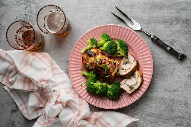 Dettaglio ravvicinato del pasto ad alto contenuto proteico