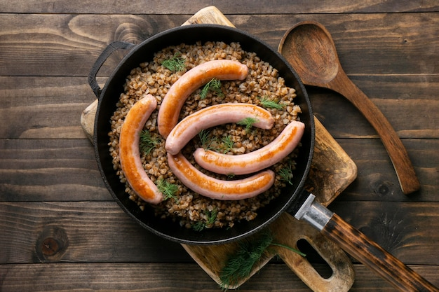 Колбаса с высоким содержанием белка крупным планом