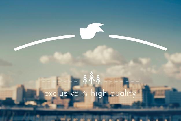 Spazio della copia dell'insegna del distintivo del marchio di alta qualità