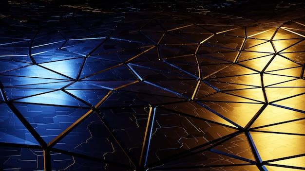 高品質のカラフルな金属の抽象的な背景