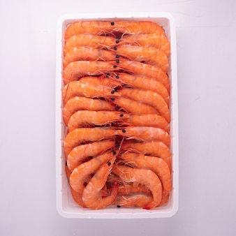 High quality frozen and thaw seafood packed in tray with iqf process, individual quick frozen using for food and seafood industry design.