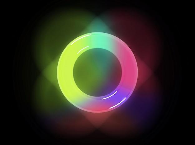 高解像度の3dレンダリング青いガラス球と影が白で分離され、反射