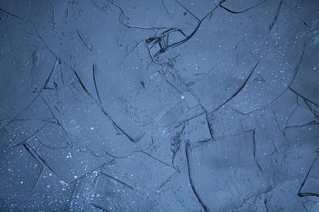 高解像度の青いテクスチャコンクリート背景上面図。フリーコピースペース