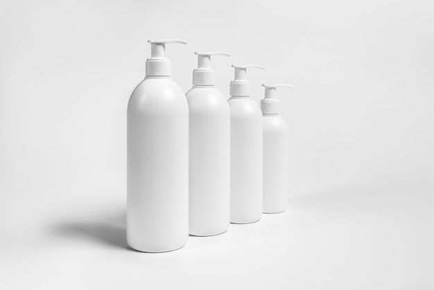 High resolution cosmetic bottle package 3d rendering isolated fit for your design element