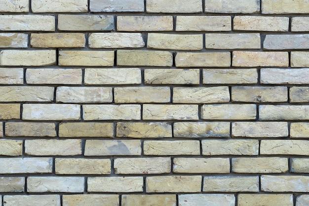 고해상도 크림 벽돌 벽 텍스처입니다. 벽돌 벽 질감 배경