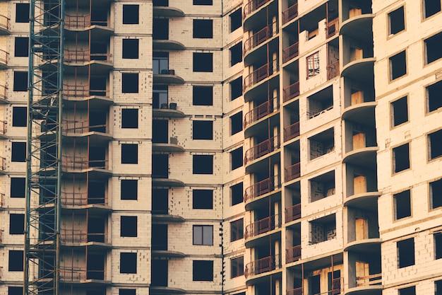 High-rise apartment building under construction