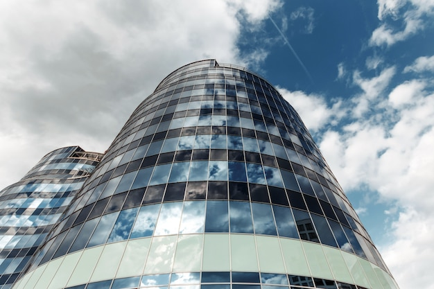 High-rise building view from below