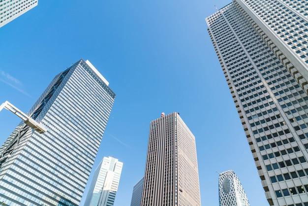 High-rise buildings and blue sky - shinjuku, tokyo