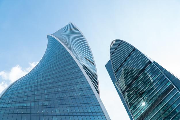 Высотные здания бизнес-центра московского округа moscowcity на фоне дневного неба