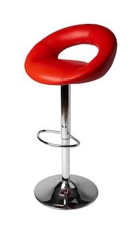 High soft bar stool isolated on white