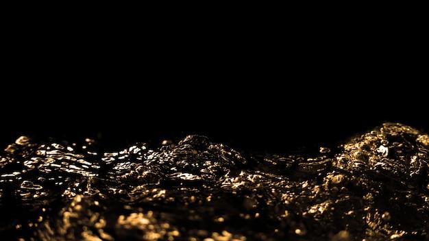 ディーゼルガソリンからの油液が黒い壁に飛び散って空中に上昇する高速クローズアップ画像は、アクティブで強力な燃料液の力を表しています