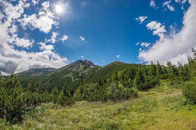 高タトラ山脈の眺め、ロムニッキーstit休暇
