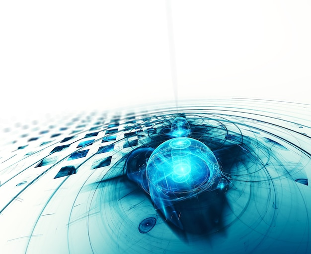 High tech abstract fractal background for your project