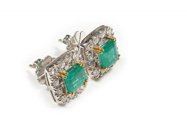 High value gems stoneアクセサリー、ゴールド、ダイヤモンド、ルビー、パール、イヤリング