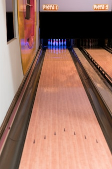 High view bowling alley