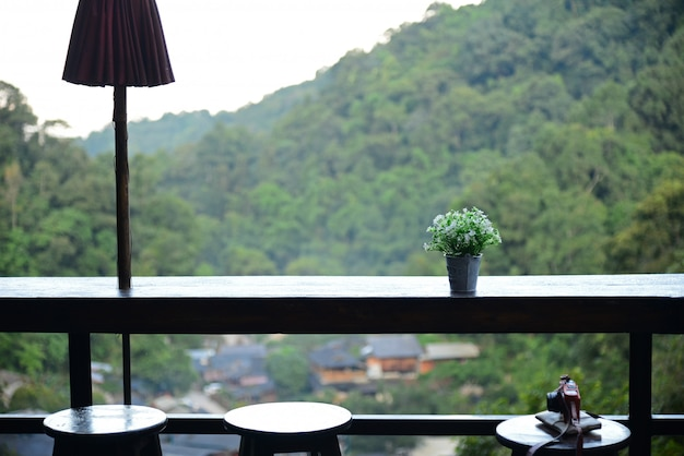 The high view frome coffee shop at chom nok chom mai at mae kam pong, chiang mai,