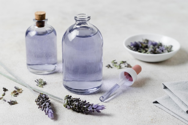 High view natural lavender oils