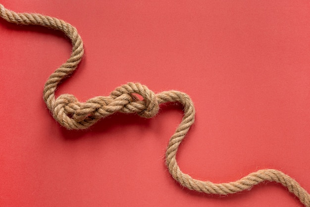 High view sailor rope knot