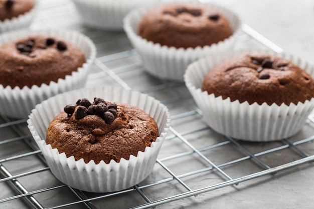 Cupcake gustoso di alta vista