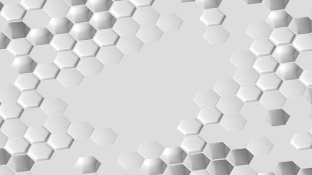 ハイビュー白い幾何学的なハニカム形状の背景