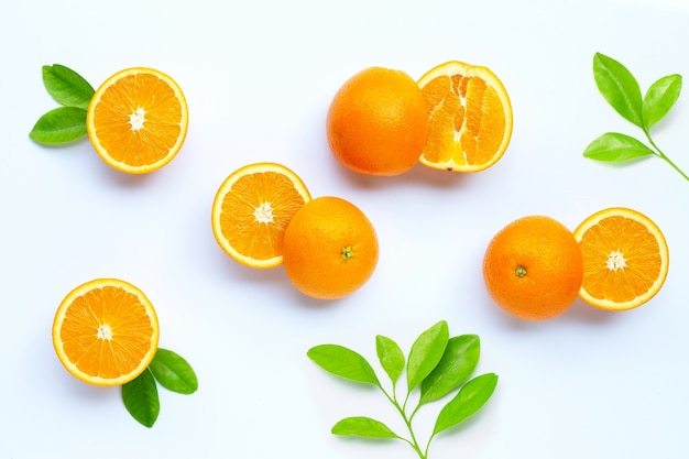 High vitamin c, juicy and sweet. fresh orange fruit.