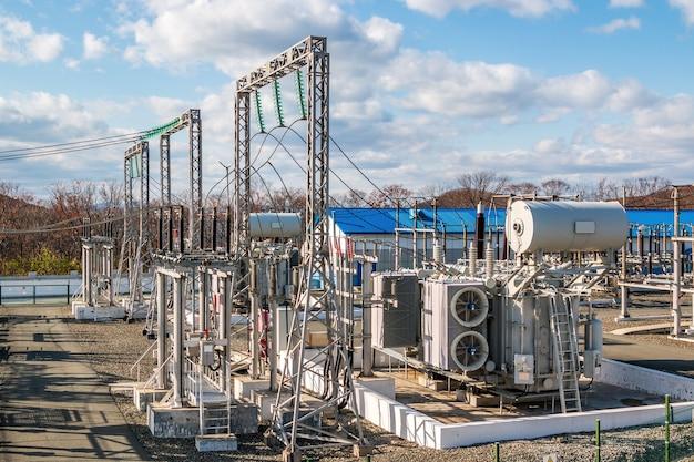 오픈에 고전압 전력 변전소입니다. 산업 시설.