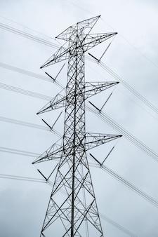 産業への高電圧極およびラインケーブルの電気伝達エネルギー供給。