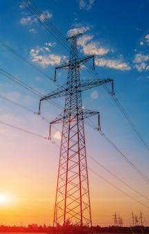 日没時の高電圧極