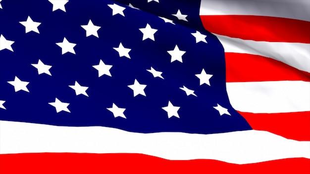 Очень подробный 3d визуализатор американского флага