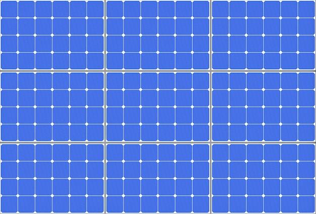 Сильно детализированная панель картины солнечных батарей крайний крупный план. 3d рендеринг