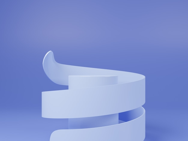製品のための高品質の白い円の表彰台のデザイン