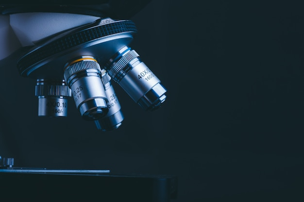 Hight technology microscope at medical science laboratory