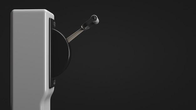高電圧自動レバースイッチ。側面図。スペースをコピーします。