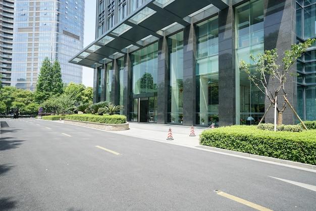 중국 닝보의 고속도로 및 금융 센터 빌딩
