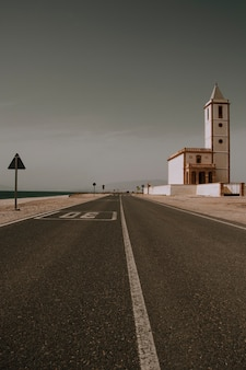 Highway in the desert
