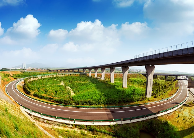 Highway and viaduct