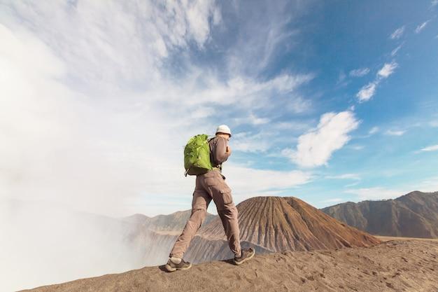Hike in bromo volcano, java island, indonesia