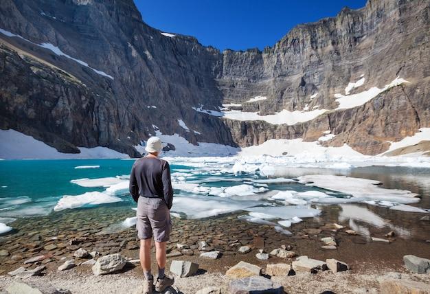 빙하 국립 공원, 몬태나에서 하이킹